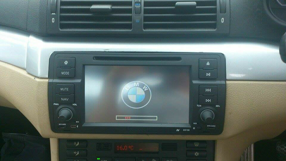 Bmw E46 Sat Nav Radio Dvd Cd Bluetooth Touch Screen