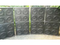 (8X) 4X12 Cabinets - Idea PA system - Small Festival/bass/guitar + PA Cabinets