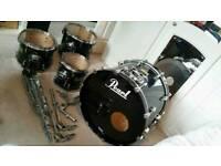Pearl Masters Studio drum shell pack black