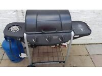 15 kg Butane gas cylinder (almost full) and Gas BBQ with regulator and hose