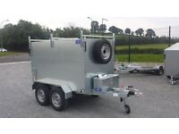 New galvanised 7x4x4 twin wheel box trailer with brakes, great trailer for driving instructor school