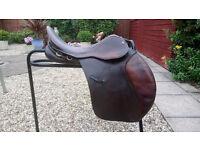 Saddle, GFS GP 17 inch, medium width, havana
