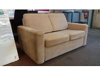 Beige pull out sofa bed (delivery available)