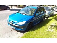 Peugeot 206 SW running for spares or repair..see advert