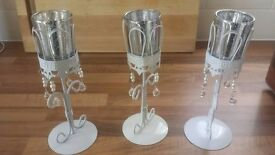3x Candle Holders (used for wedding)