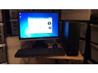 "Asus Pundit Small Desktop PC complete with 19"" monitor, keyboard, mouse and WiFi."