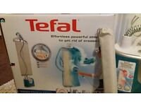 TEFAL CLOTHES STEAMER * CLOTHES IRON * HARDLY USED* IN AS NEW CONDITION
