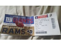 3x nfl tickets for sale giants v rams 90 quid ono collection only. exeter