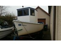 Plymouth pilot 18ft fishing boat for sale - price negotionable