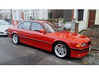 Bmw e38 imola 728i sport with LPG/ CLASSIC insiurance (PRIVATE PLATES INCLUDED)