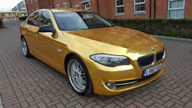 2010 BMW 520d Chrome Gold Wrap!! F10, Modified, one of a kind