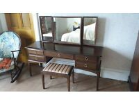 Stag Minstral dressing table, mirrors and stool