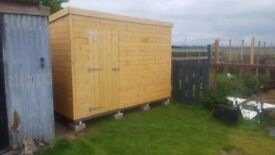 10ft x 8ft Pent Garden Shed