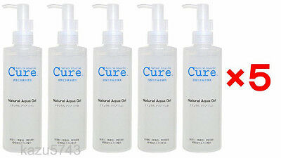 Cure Natural Aqua Gel 250ml 5 Bottle Packs Care Activated Hydrogen Water JAPAN