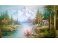 these are 2 paintings by to famous artists larger than a1