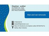 Man with a van,Cheap & Reliable,house removals big or small,single items,ring for a quote