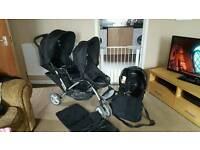 Double buggie with car seat