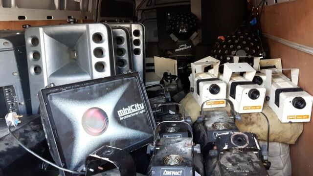 retro disco lighting van load selling off rcf, mackie,jbl crwin vega jem  zr22,clay paky   in Willenhall, West Midlands   Gumtree