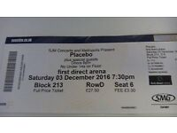 Placebo ticket in Leeds 3.12.2016