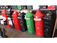 POST BOXES PUMPS LAMPS BENCHES CAST IRON GARDEN FURNITURE TABLES CHAIRS URN'S PLANTERS WATER TAPS
