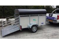 SINGLE WHEEL 7x4 LIVESTOCK GALVANISED TRAILER WITH LOADING GATES ANYONE CAN TOW THIS TRAILER