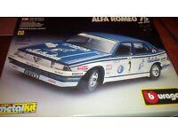 ALFA ROMEO 75 SCALE MODEL CAR