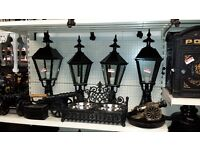CAST ALUMINIUM LAMPS TO FIT ON WALL TOPS AND PILLARS
