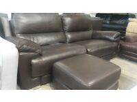 DFS 3 seater electric recliner sofa and Footstool