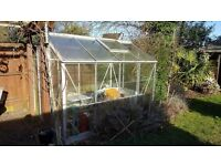 Greenhouse 6x8 .Buyer to dismantle . £75.