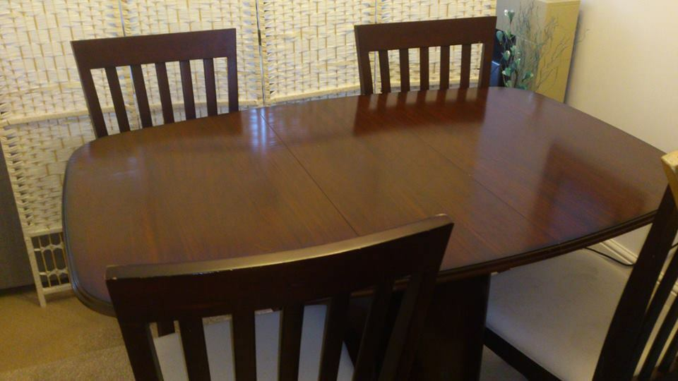 3117ef7f98ee folding gate leg mahogany table and 4 chairs - free delivery