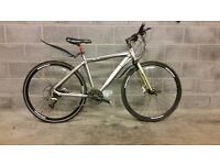 FULLY SERVICED HYBRID SCOTT MUC OFF BICYCLE WITH HYDRAULIC BRAKES