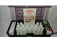 Vintage Carmen Conditioning Curl 20 Rollers w 17 Pins inc. Instructions Tested