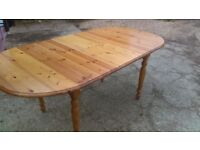 large pine extending dining table - free delivery