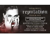 4 Sitting tickets for Taylor Swift for 23rd June at Club Wembley!