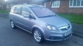 vauxhall zafira design 7 seater petrol 6 speed low miles 2 owners very high spec excellent condition