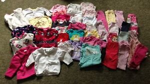 Lot of 0-3 and 3-6 month girl clothes