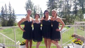 Bridesmaids Dress - Navy Blue Chiffon