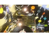 Technics 1210 turntables and mixer