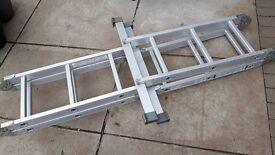 multi purpose large heavy duty ladders never used just taking up space & standard set loft ladders