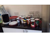 Plates,side Plates ,bowls,glasses And Mugs