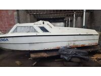 project boat micro plus 600 with caravan trailer needs a clean and engine