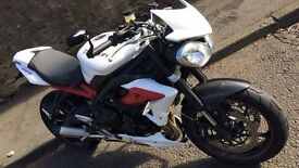 2014 Triumph street tripple R ABS with carbon parts.