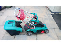 Bosch electric lawn mower mains powered VGC