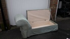 Lovely Vintage Chaise Longue with storage in need of recovering.