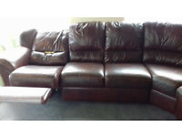 Real Leather... RECLINER CORNER SOFA.....£350.... Local Delivery.