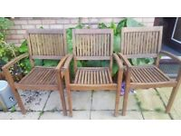 john lewis solid oak garden chairs
