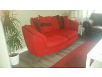 Stunning red sofa great condition