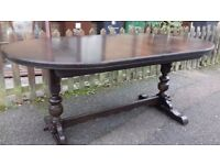 Carved dining table,genuine Old Charm,oak,extendable,165-205cm,Made in England!!