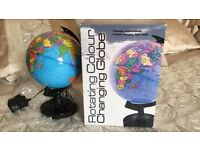 Rotating Changing Colour Globe Lamp NEW IN BOX