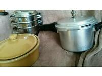 Steamer, pressure cooker and pot